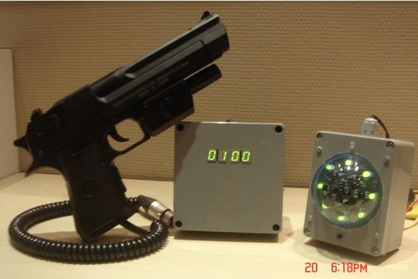 fusiles de caza con láser en la atracción
