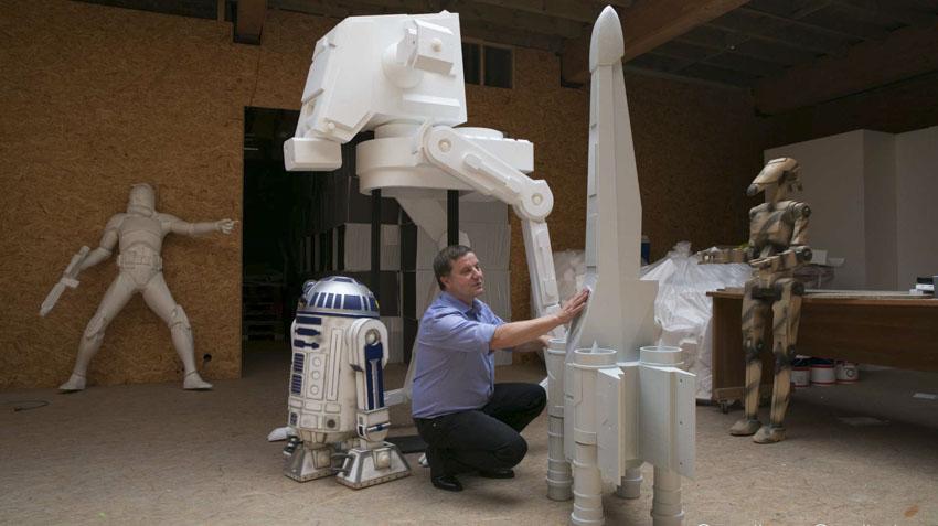 esculturas de diseño starwars