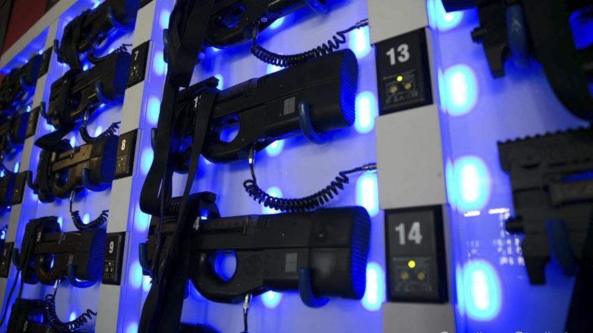 Construcción de un laberinto laser tag