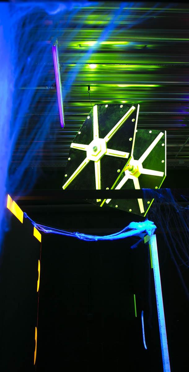 Installation du labyrinthe Laser Game